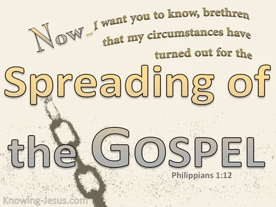Philippians 1:12 The Spreading Of The Gospel (beige)